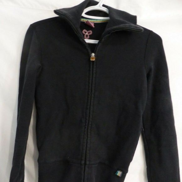 Aritzia TNA, black zip sweatshirt, xxs, collar